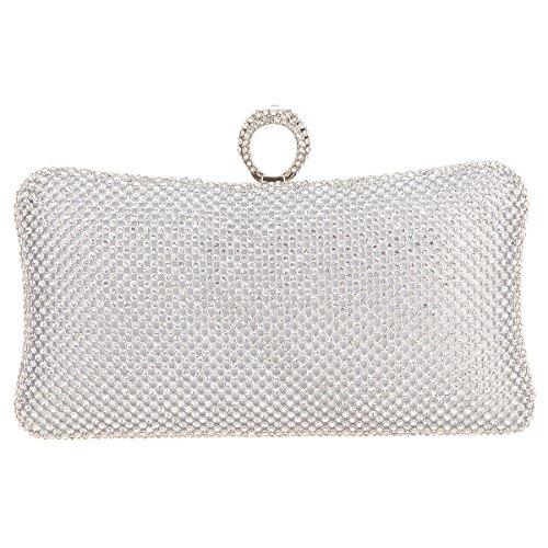 Bag Bling Ring - Fawziya Bling Ring Clutch Purse Women Rhinestone Clutch Evening Bags And Clutches-Silver