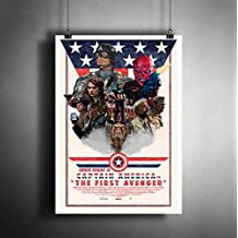 Captain America The First Avenger Marvel Art Poster Photo Print Decor Fan Artwork (A3 Size (297×420 mm (11,7×16,5 inches))