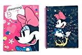 School Supplies- Minnie Mouse''Dots'' 2 pk. Pocket Folders and Minnie Subject Notebook