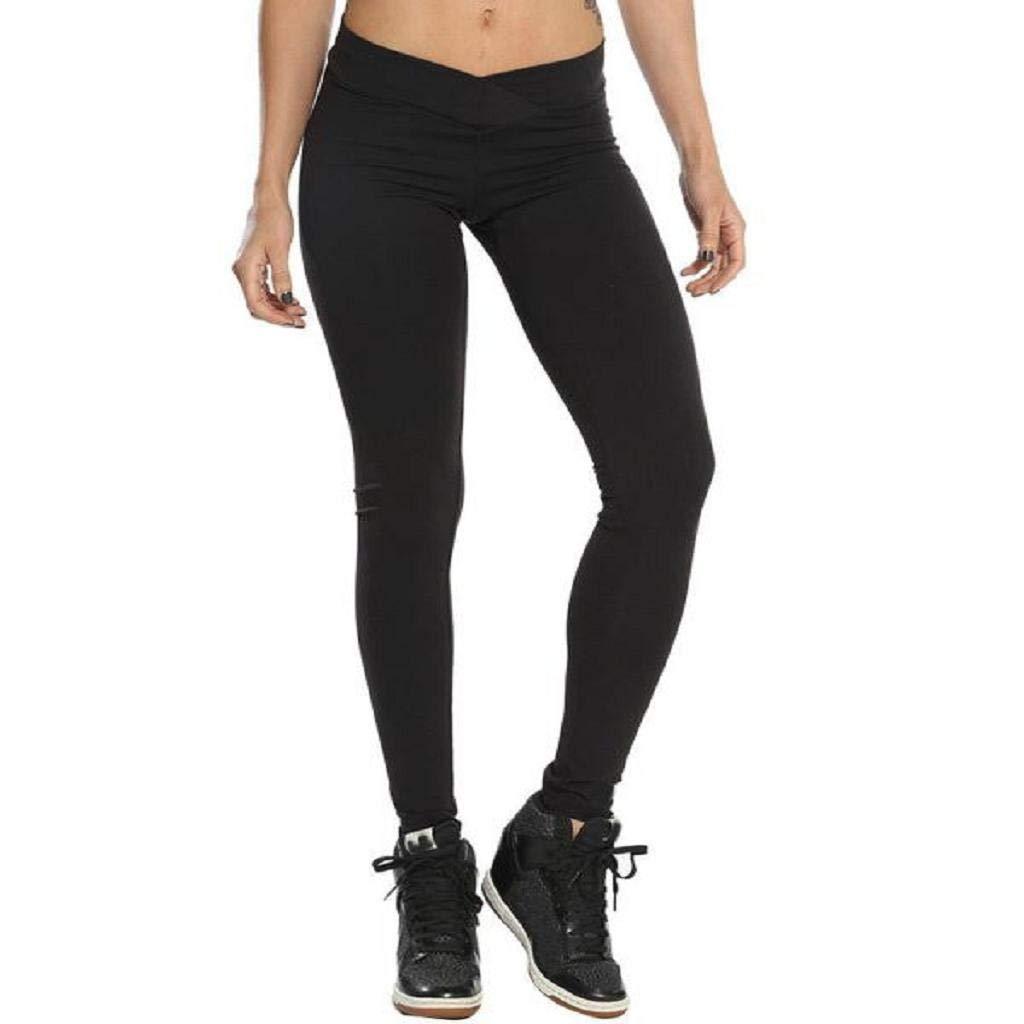 Amazon.com: SAKAMU-Women Hight Waist Yoga Fitness Leggings ...