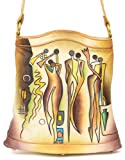 ZIMBELMANN CASSANDRA Genuine Nappa Leather Hand-painted Tote Shoulder Bag