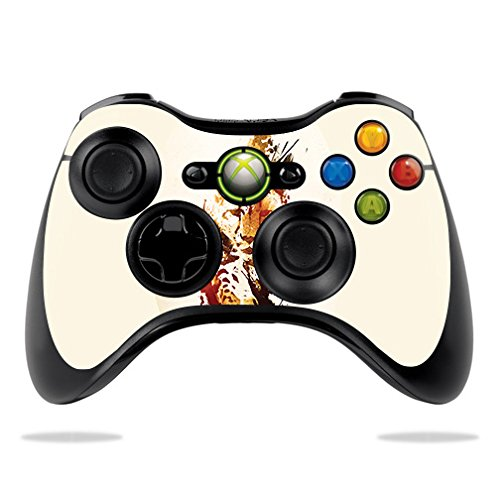 (MightySkins Skin for Microsoft Xbox 360 Controller - Cheetah Splatter | Protective, Durable, and Unique Vinyl Decal wrap Cover | Easy to Apply, Remove, and Change Styles | Made in The USA)