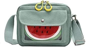 حقيبة للنساء-اخضر - حقائب طويلة تمر بالجسم