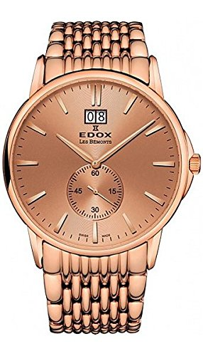 Edox-Mens-64012-37RM-ROIR-Les-Bemonts-Analog-Display-Swiss-Quartz-Rose-Gold-Watch