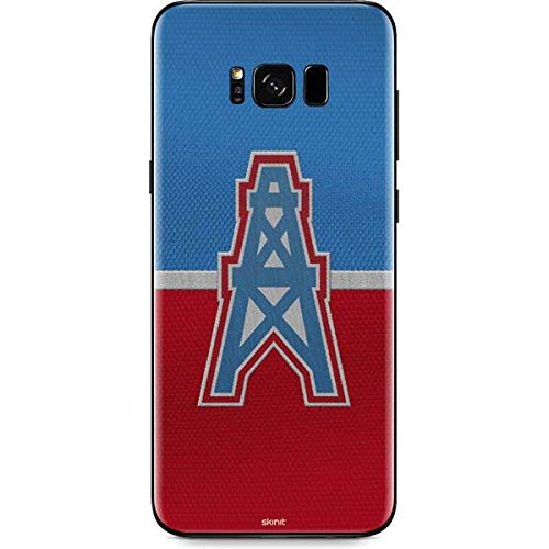 Skinit Houston Oilers Vintage Galaxy S8 Plus Skin - Officially Licensed NFL Phone Decal - Ultra Thin, Lightweight Vinyl Decal Protection
