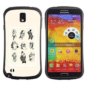 "Pulsar iFace Series Tpu silicona Carcasa Funda Case para Samsung Note 3 , Artista Rendering cartel amarillo Personajes"""