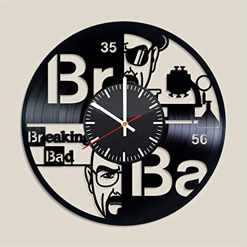 Breaking Bad Vinyl clock, Breaking Bad decor Breaking Bad Breaking Bad music Breaking Bad music band Breaking Bad fan gift valentines decor