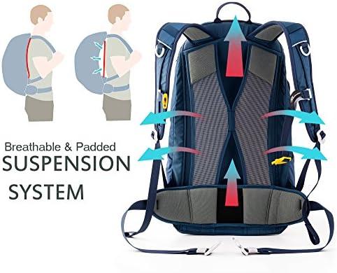 Timberbrother Mochila de Senderismo Impermeable mochila de montaña para Acampadas, Viajes, Escalada y Trekking (Azul - 30L)