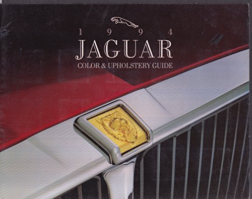 1994 Jaguar Color & Upholstery Guide XJ6 XJ12 XJS