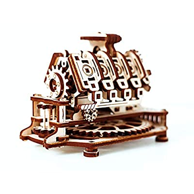 Wooden.City V8 Engine Mechanical Model Kit 14 x 10 x 10.7 cm.: Kitchen & Dining
