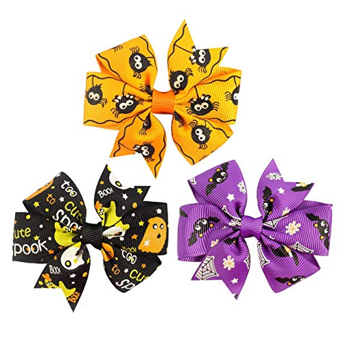 Baby Halloween HairPin HairClips with Bowknot Hair bow Kids Girl Hairgrip JHH23 (D3) for $<!--$9.90-->