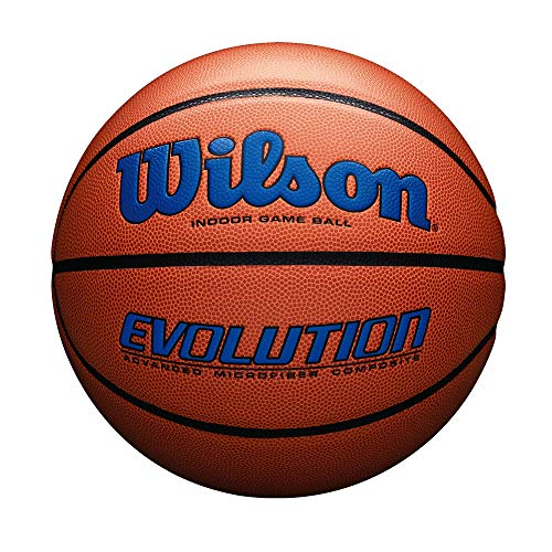 Wilson Sporting Goods Official, Size 29.5, Royal Wilson Evolution Indoor Game Basketball