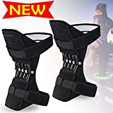 Power Knee Leg Joint Support Pads Brace Powerful Rebound Spring Force Powerlift Knee Protection Booster For Running, Basketball, Gym, Sports