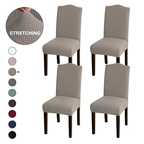 Turquoize Armless Chair Slip Covers for Dining Room Jacquard Dining Room Chair Slipcovers Sets Washable Removable Chair Slipcover Dining Chair Protector Cover for Dining Room Set of 4, -