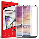 Zizo Lightning Shield compatible with Samsung Galaxy S8 Full Edge to Edge Tempered Glass Screen Protector Anti Scratch 9H Hardness BLACK
