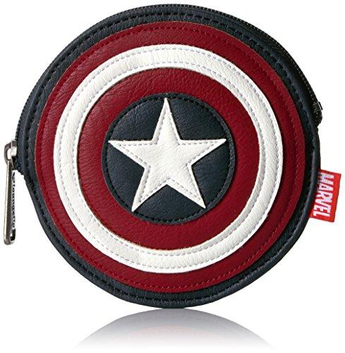 Loungefly Women's Marvel Captain America Shield Bag Coin Purse, Multi, One (Captain America Purse)