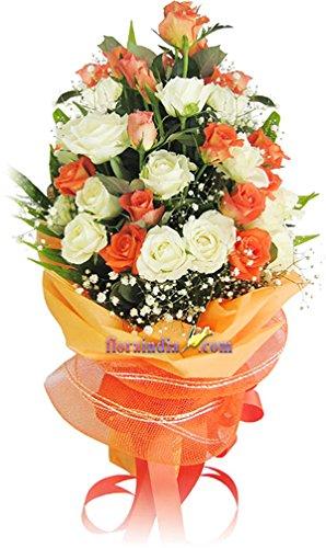 Floraindia Fresh Flower Bouquet Bunch Of 20 Amazon In Home Kitchen