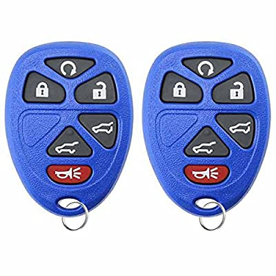 KeylessOption Keyless Entry Remote Control Car Key Fob Replacement for 15913427 -Blue (Pack of 2): Automotive