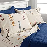 Orvis Vintage Skis Flannel Sheet Set, Duvet Cover, And Sham / Only Full Sheet Set, , Full