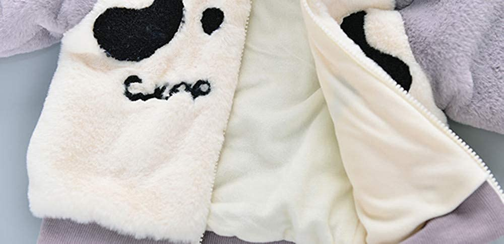 SHITOU Baby Infant Boy Autumn Ears Cartoon Hooded Coat Cloak Jacket Thick Warm Cloth