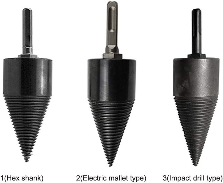 LYXMY Drill Bit Wood Splitter,Heavy Duty Drill Screw Cone,Multifunction Screw Splitting Home Firewood Drill Bit Hex Shank Wood Splitter