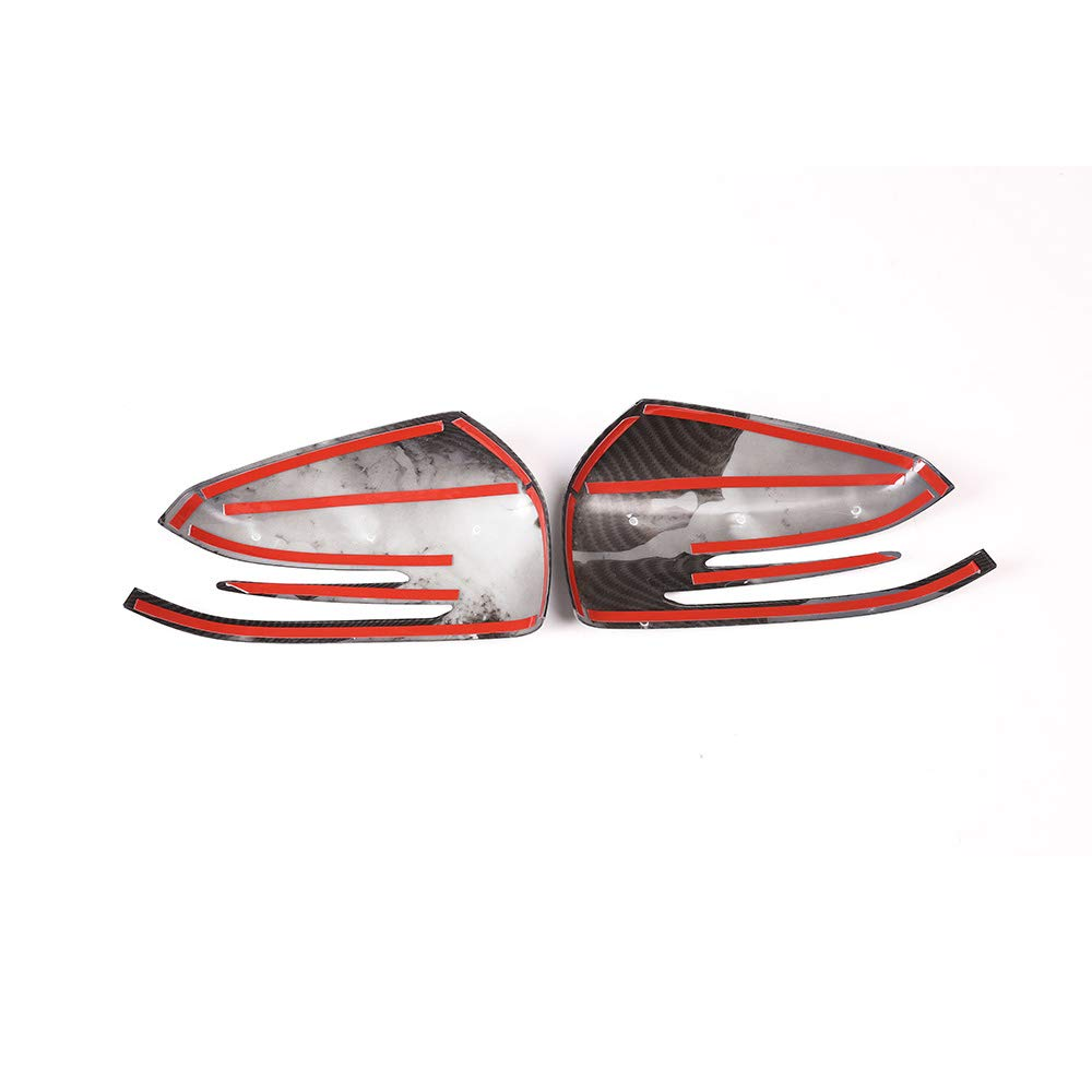 YIWANG Carbon Fiber Style ABS Car Rearview Mirror Frame Trim Cover for Mercedes Benz A CLA GLA GLK Class W176 W117 X156 X204