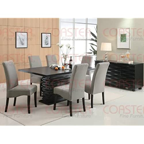 Incroyable Coaster Home Furnishings Stanton Modern Contemporary Wave Design  Rectangular Dining Table   Black