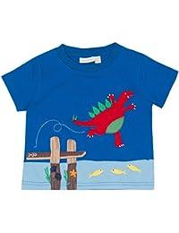 JoJo Maman Bebe Stegosaurus T Shirt (Toddler/Kid) - Cobalt-2-3