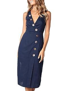 82714c8d18 Semir Womens Skater Dress Comfy Swing Tunic Sleeveless Solid T-Shirt Dress
