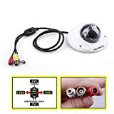 """Evtevision 1/4"""" 720P 1.0 MP 4in1 Hybird(TVI+CVI+AHD+Analog) CCTV Home Surveillance 2.8mm Lens IR Cut Dome Security Camera 12Leds,33ft Night Vision,Wide Angle,Metal case with Audio Pickup & OSD Menu"""