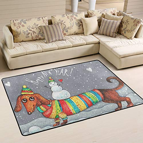 Wamika Dachshund Snowman Doormat Christmas Year Snow for sale  Delivered anywhere in USA