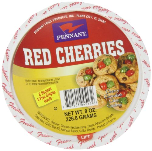 Pineapple Glazed - Pennant Red Cherries, 8 Ounce
