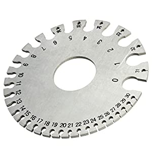 Stainless Steel SWG Wire Gauge Measure Wire Thickness & Sheet ...
