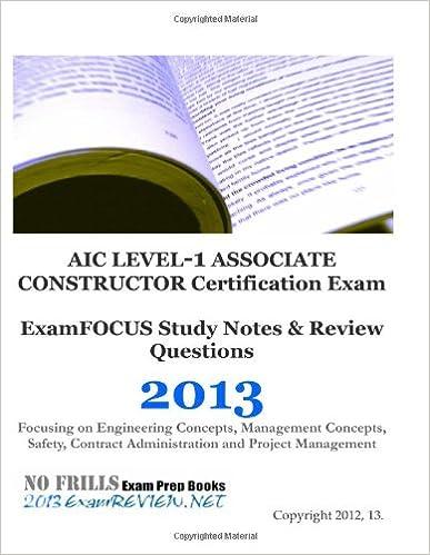 AIC LEVEL-1 ASSOCIATE CONSTRUCTOR Certification Exam ExamFOCUS Study ...