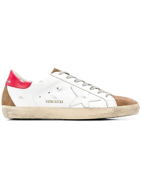 GOLDEN GOOSE G34MS590N19 Hombre Blanco Cuero Zapatillas: Amazon.es: Zapatos y complementos