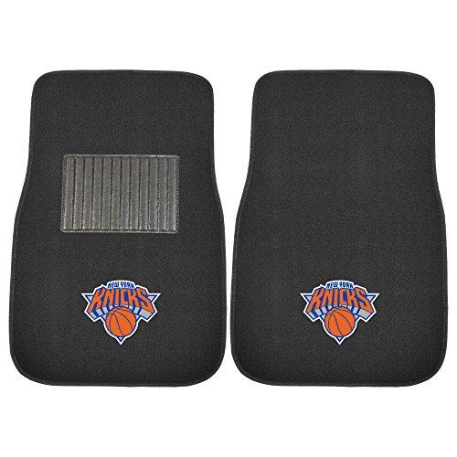 Fanmats 17614 NBA New York Knicks 2-Piece Embroidered Car Mat by Fanmats