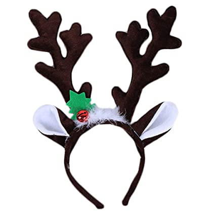 c0627c34f4a12 Image Unavailable. Image not available for. Color  Haayward - 1 Pcs Big Reindeer  Antlers Horn Hair Hoop