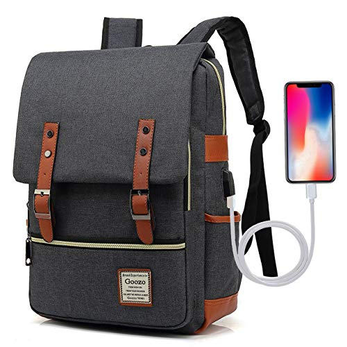 9f72828ec71e Adual Big Student Laptop Backpack with USB Charging Port
