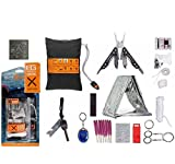 Emergency Survival Knife Kit With Useful Outdoor Camping Bear Grylls Gerber Ultimate 16 Piece Complete
