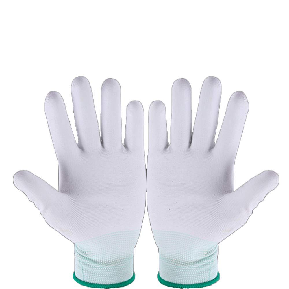 Aofocy Guantes de Nylon para acolchar con má quina Quilters Acolchar Costura M Blanco