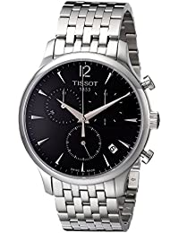 Men's T063.617.11.067.00 Charcoal Stainless Steel Bracelet Watch with Black Dial