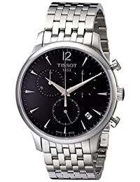 Tissot Men's Charcoal Stainless Steel Bracelet Watch with Black Dial