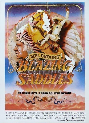 BLAZING SADDLES Mel Brookes Hilarious 1974 Large Vintage Movie Poster (1974 Large Poster)