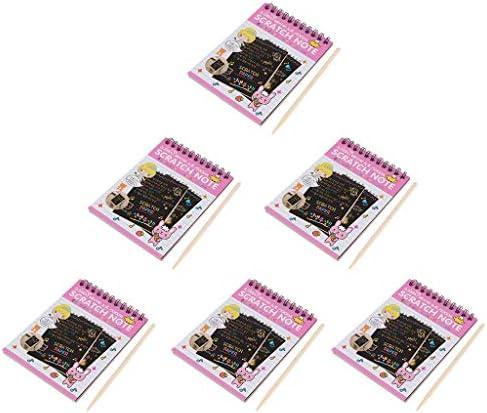 描画 スクラッチ ペーパー 画材 幼児 子ども 大人気 絵の具 学童用品 使いやすさ 全4色 - ピンク