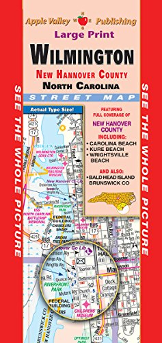 Road Maps Nc County - Wilmington/New Hanover County NC Fold Map