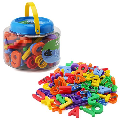 Cheap ABC Magnets - 109 Magnetic Alphabet Letters & Numbers With Take Along Bucket By EduKid Toys for cheap