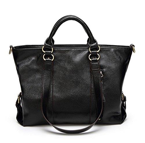 Shoulder Handle Nodykka Bag Black Vintage Satchel Tote Hobo Women Crossbody Top Leather Handbags zttwWOqZ