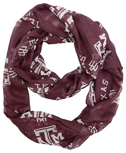 - Littlearth NCAA Texas A&M Aggies Sheer Infinity Scarf