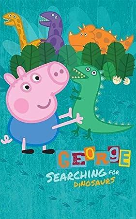 walltastic peppa pig poster sticker print dcoration murale papier peint mural dcor pour enfants