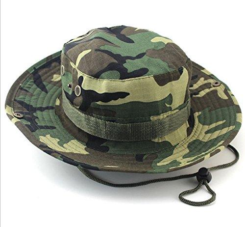 迷彩アウトドア登山トレーニングコスプレアウトドアFisherman釣り帽子ジャングル迷彩ベンネパールキャップ帽子ラウンドエッジ   B01EUO97KU